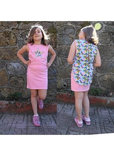 Quzucuk Kids Kız Çocuk Yıldız Figürlü Pembe Takım Pembe